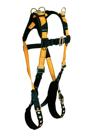 Harnesses And Belts - FallTech Journeyman Flex 7027, Steel, Full Body Harness, 3 D-Rings, Free Shipping