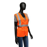 Hi-Viz - Fitted Safety Vest, West Chester 47208, Hi-Viz Ladies, Lime/Orange, Class 2