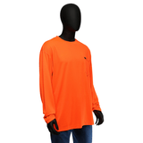 Hi-Viz - Neon Yellow Or Orange Long Sleeve Shirt, 47407, Hi-Viz, Non-ANSI