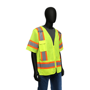 Hi-Viz - Two Tone Surveyor Safety Vest, 47307, Class 3, Zipper