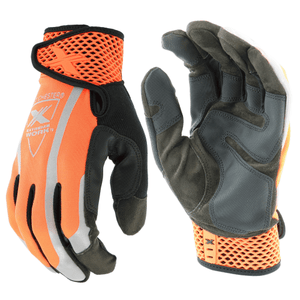 Hi-Viz - West Chester 89308OR Extreme Work VizX Safety, Touchscreen Gloves, Pair