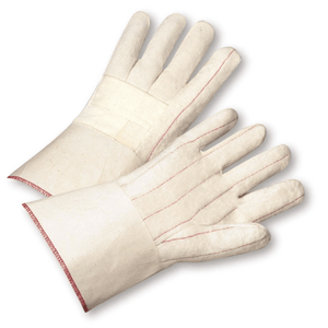 Hotmill Gloves - West Chester 7900BLG 28 Oz Burlap Hotmill Gauntlet Glove 12 Pair