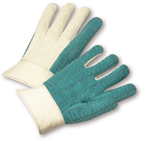 Hotmill Gloves - West Chester 7924GR Hvy Weight, Bandtop Green Palm Hotmill Glove