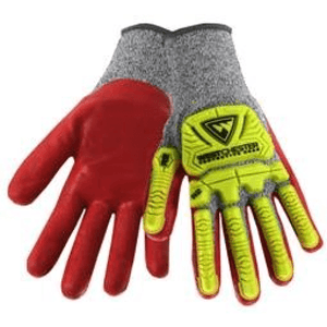 Impact Gloves - West Chester 713SNTPRG, R2 Flx Super Rugged, Nitrile Coated Gloves, Pair