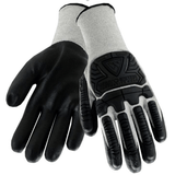 Impact Gloves - West Chester 715HNFB, Nitrile Coated Impact Glove, A2 Cut Resistant, 12 Pair