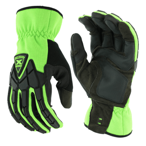 Impact Gloves - West Chester 89305 Extreme Work Strike ProteX, Hi-Viz Impact Gloves, - Pair