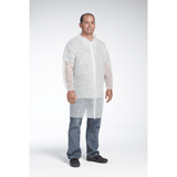 Lab Coats - West Chester 3512 SBP White Lab Coat, Elastic Wrist, No Pocket - Standard Weight