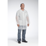 Lab Coats - West Chester 3514 SBP White Lab Coat, Chest And Hip Pocket - Standard Weight