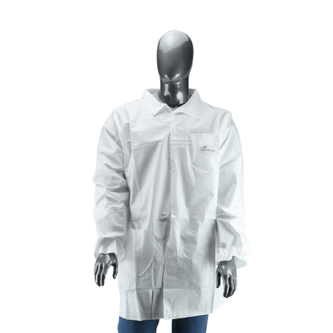 Lab Coats - West Chester 3620 Posi Wear BA - Microporous Lab Coat, Snap Closure 2 Pocket