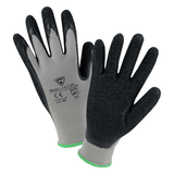 Latex Coated Gloves - West Chester PosiGrip 713SLC, Black Crinkle Latex Coated Gloves, Gray, 12 Pair