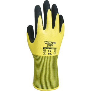 Latex Coated Gloves - Wonder Grip WG-310H Comfort- Hi-Viz Yellow Double Coated Latex Palm 12PK