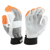 Leather Palm Gloves - West Chester 86565, Goatskin Nomex, Electrical Gloves, Orange Fingertips, 3 Pair