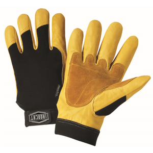 Mechanics Gloves - Leather Gloves, 86350, Iron Cat®, Heavy Duty, Grain 3PK
