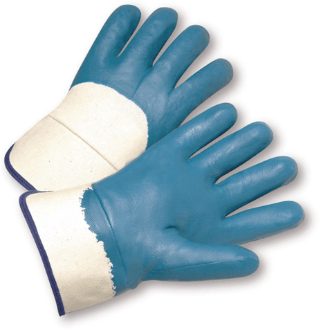 Nitrile Coated Gloves - West Chester 4550 Safety Cuff Nitrile Palm Coated Jersey Lined