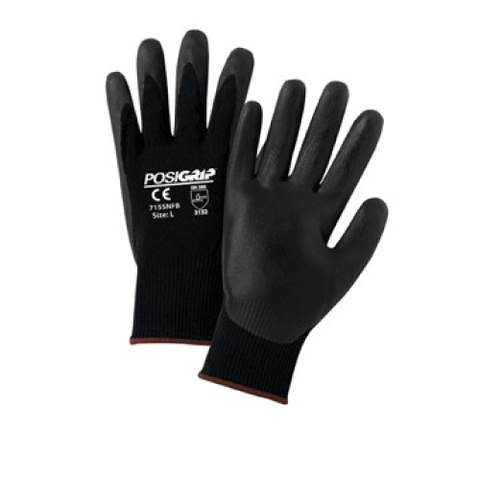 Nitrile Coated Gloves - West Chester 715SNFB PosiGrip Nitrile Coated Gloves, 12 Pair
