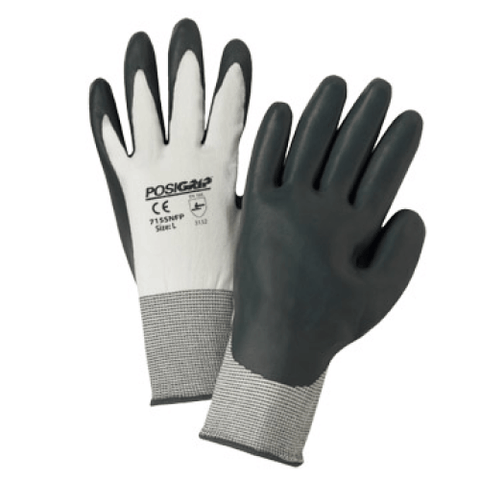 Nitrile Coated Gloves - West Chester 715SNFP PosiGrip Nitrile Coated Gloves, 12 Pair