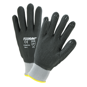 Nitrile Coated Gloves - West Chester 715SNFTFD PosiGrip Micro Foam With Dots Nitrile Coated Gloves, 12 Pair