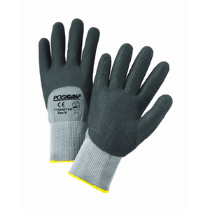 Nitrile Coated Gloves - West Chester 715SNFTKD PosiGrip 3/4 Dipped Nitrile Foam Gloves With Dots, 12 Pair