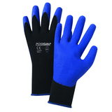 PU Coated Gloves - West Chester 713SPA Blue PVC, Palm Coat On Black 13 Gauge Nylon Liner. 12 Pair