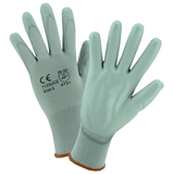 PU Coated Gloves - West Chester 713SUCG Grey Urethane Coating On 13 Gauge Grey Nylon Liner. 12 Pair