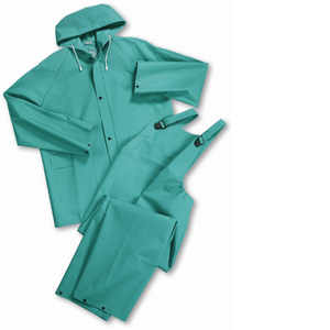 Rain Wear - West Chester 4045 Heavy Duty Green 40mm PVC/Polyester/PVC Rain Suit