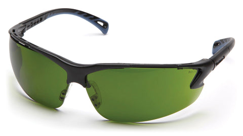 Safety Glasses - Venture 3 Safety Glasses With Adjustable Temples, Shade 3 And Shade 5, 12 Pair