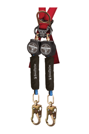 Self-Retracting Devices - FallTech 72706TB2 6' DuraTech MINI SRD Twin-Leg, Swivel Snap Hooks