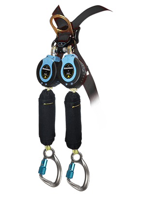 Self-Retracting Devices - FallTech 82909TB6 9' Arc Flash MAX Twin Leg Web SRD, Swivel Eye, Captive-Eye Carabiner