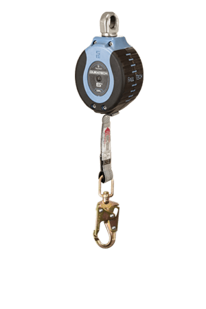 Self-Retracting Devices - FallTech DuraTech 82706SA2 6' Compact Web SRD; Steel Swivel Snap Hook