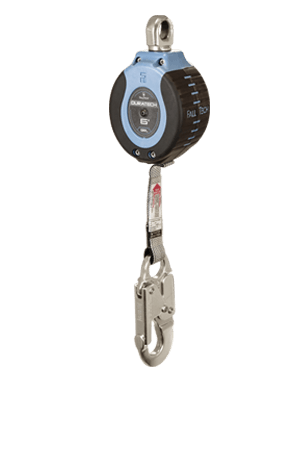 Self-Retracting Devices - FallTech DuraTech 82706SA4 6' Compact Web SRD; Aluminum Snap Hook