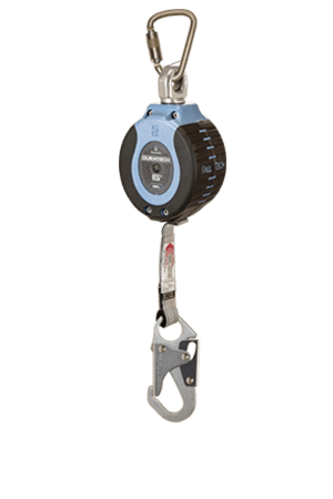 Self-Retracting Devices - FallTech DuraTech 82706SB1 6' Compact Web SRD; Steel Carabiner
