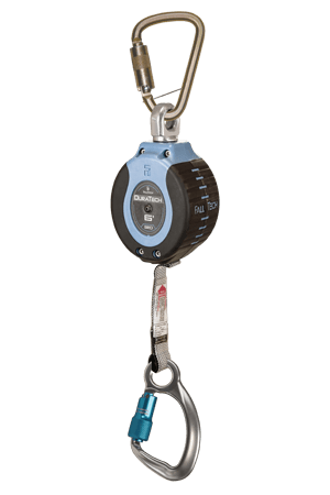 Self-Retracting Devices - FallTech DuraTech 82706SB6 6' Compact Web SRD;  Steel Carabiner