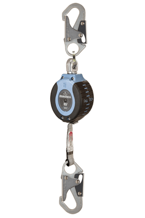 Self-Retracting Devices - FallTech DuraTech 82706SD1 6' Compact Web SRD; Steel Snap Hook, Steel Carabiner