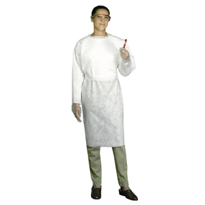 Smocks - West Chester 3520 SBP White Wrap Smock, Open Cuff