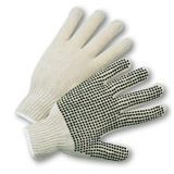 String Knit Gloves - West Chester 708SK String Knit PVC Dotted Palm 12 Pair