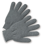 String Knit Gloves - West Chester 712SG Mens Heavy Weight Gray String Glove 12 Pair