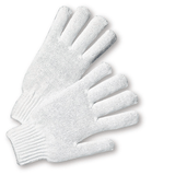 String Knit Gloves - West Chester K710SBW, Medium Weight String Knit Gloves, White, 12 Pair