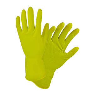 Unsupported Gloves - West Chester 3312 16 Mil Flock Lined Yellow Latex - Bulk Pack - Economy