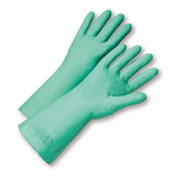 Unsupported Gloves - West Chester52N100 11 Mil Unlined Green Nitrile, Individually Packaged - Premium Posi Grip - Small