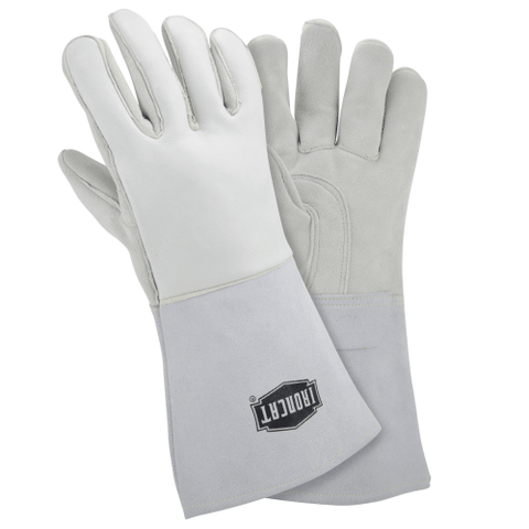 "Welders Gloves - West Chester 9061 IronCat 14"" White Stick Welding Gloves 6 Pair"