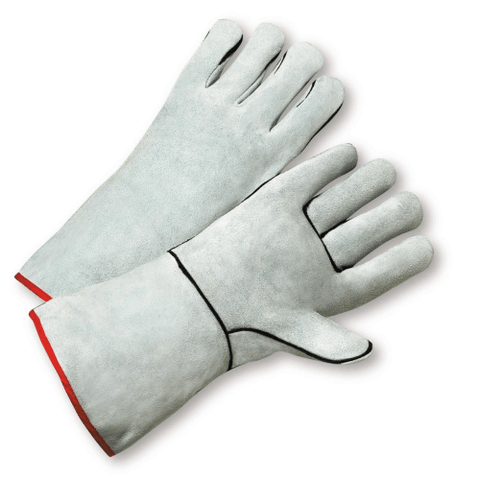 Welders Gloves - West Chester-930K Grey Leather Welders Glove - Sewn W/Kevlar Thread 12PK