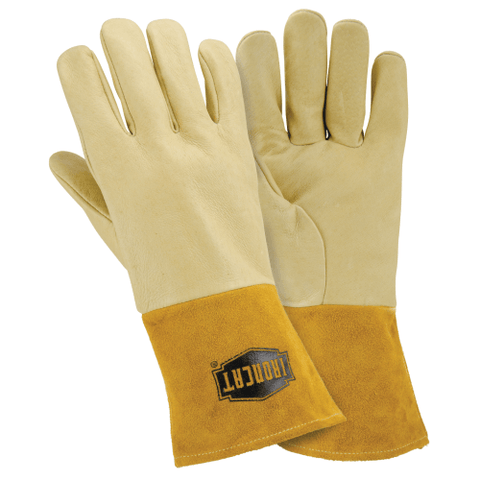 Welders Gloves - West Chester IronCat 6021 Pigskin MIG Welding Glove, Kevlar Sewn, 6 Pair