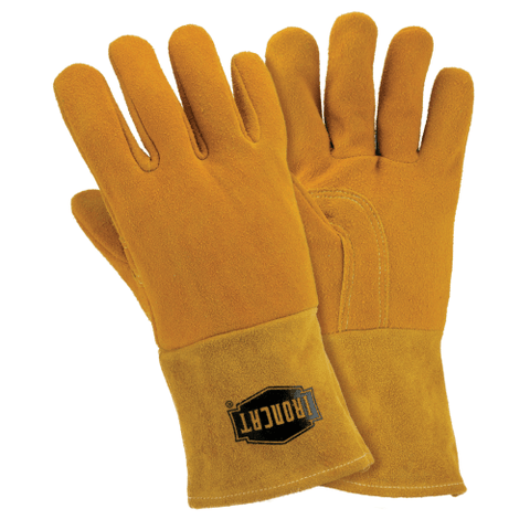 Welders Gloves - West Chester-IronCat 6030 Insulated, Deerskin MIG Welding Gloves, 6 Pair