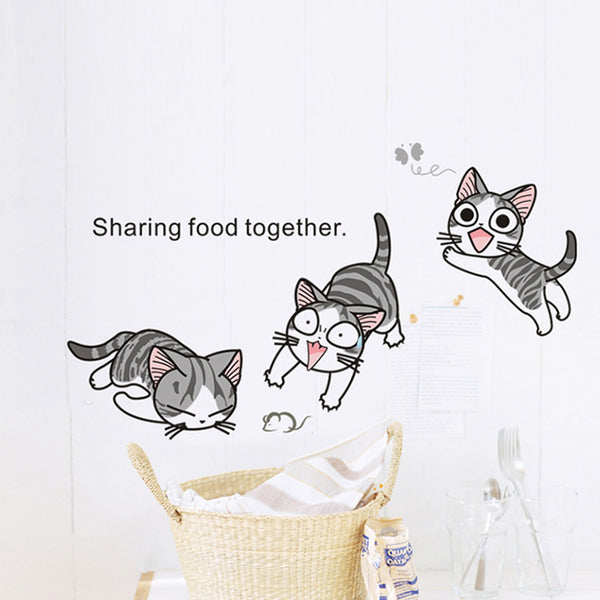 10 Lovely Cats playing wall stickers home decor decoration
