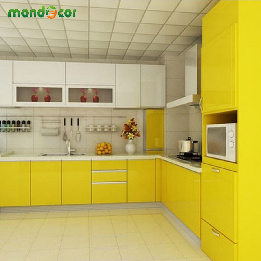 60cmX10m Vinyl Glossy Home Decor Wall Papers Kitchen Cabinet ...