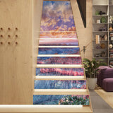 13 Pieces/Set Creative DIY 3D Stairway Stickers Sunset Grand Canyon Pattern for House Stairs Decoration Staircase Wall Sticker
