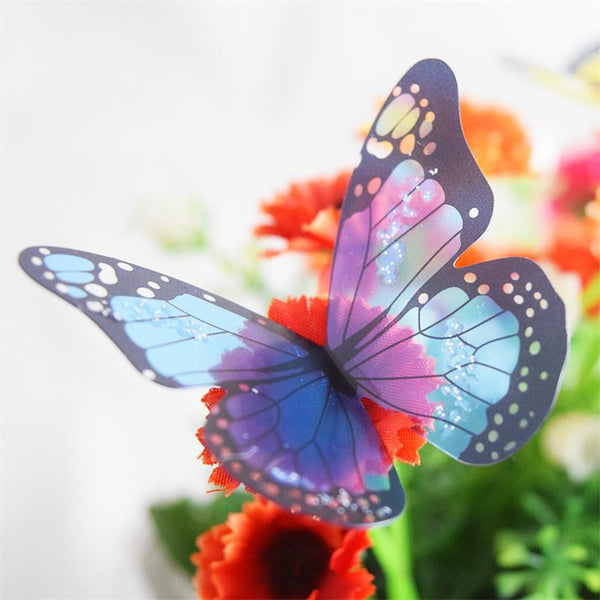 Butterfly stickers 18pcs/lot pvc removable wall decor art diy bedroom living room decorations kids