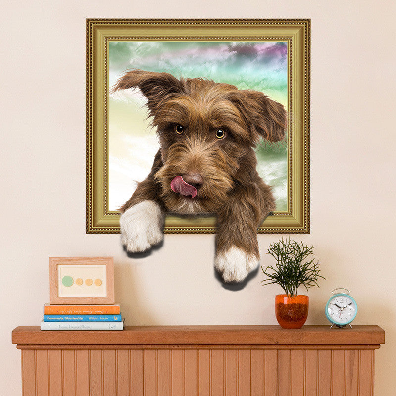 Puppy Dog Wall Stickers PVC Wall Decal Mural Poster Children Nursery Kids Children Bedroom Decor