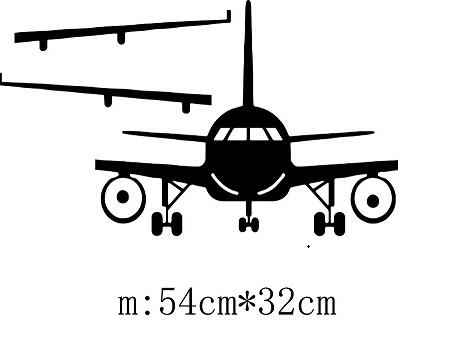 3D Airplane Wall Stickers Wall Decor Art Decal Decoration Vinyl Stickers Removable Airplane Wallpaper