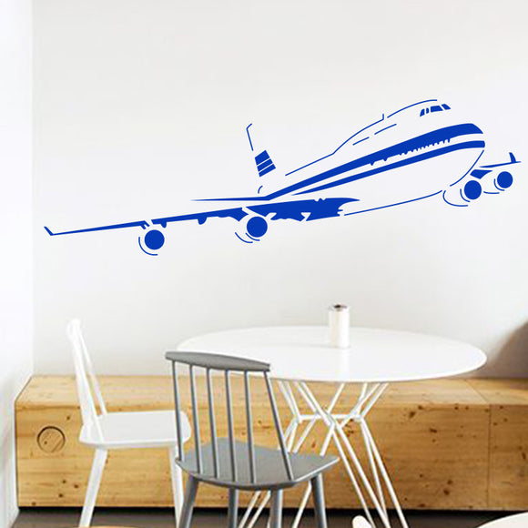 Aiplane wall sticker for living room or bedroom airplane wall decal sticker